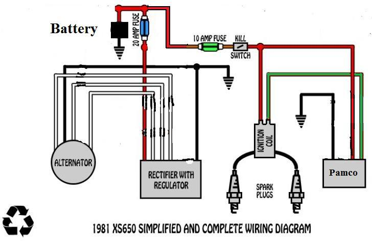 xs650 1981 with pamco and battery?w\=498\&h\=323 xs650 wiring diagram gandul 45 77 79 119 1979 xs650 wiring diagram at bakdesigns.co